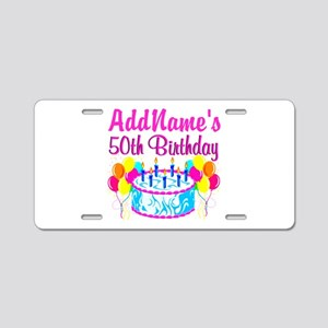 50TH PARTY Aluminum License Plate