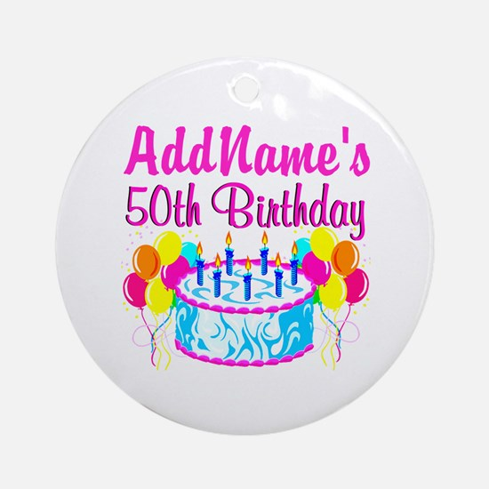 50TH PARTY Ornament (Round)