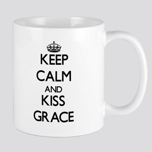 Keep Calm and kiss Grace Mugs