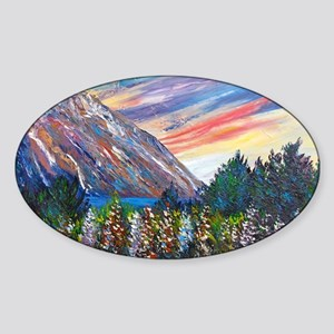 Mountain Lupins - By Helen Blair Sticker (Oval)
