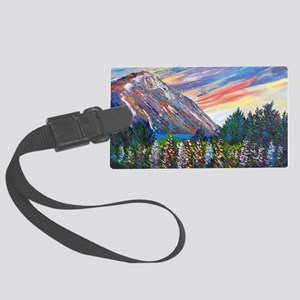 Mountain Lupins - By Helen Blair Large Luggage Tag