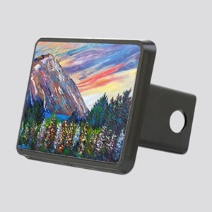 Mountain Lupins - By Helen Rectangular Hitch Cover