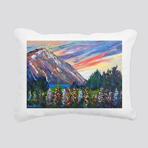 Mountain Lupins - By Hel Rectangular Canvas Pillow