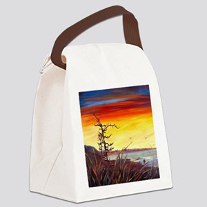 Red Sunset - By Helen Blair Canvas Lunch Bag