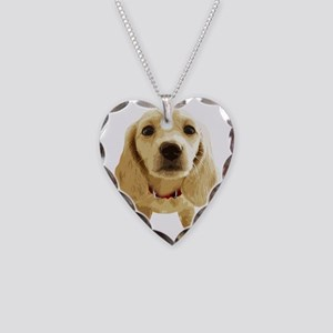 DAchshund004 Necklace Heart Charm