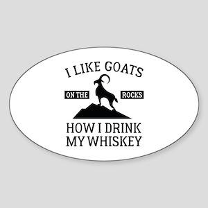 I Like Goats On The Rocks Sticker (Oval)