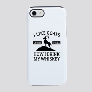I Like Goats On The Rocks iPhone 7 Tough Case