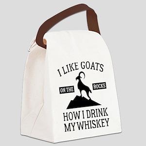 I Like Goats On The Rocks Canvas Lunch Bag