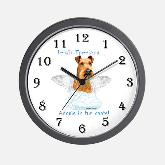 Irish Terrier Angel Wall Clock