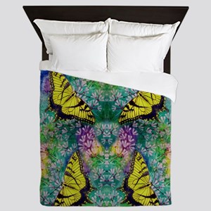 Swallowtails 88X88 Inch Queen Duvet