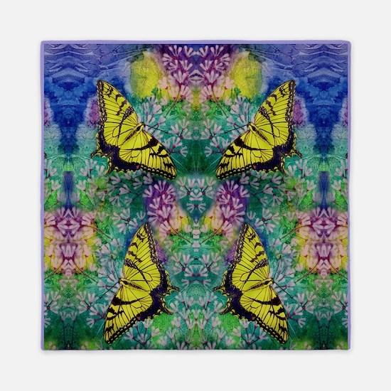 Swallowtails 88X88 Inch Queen Duvet