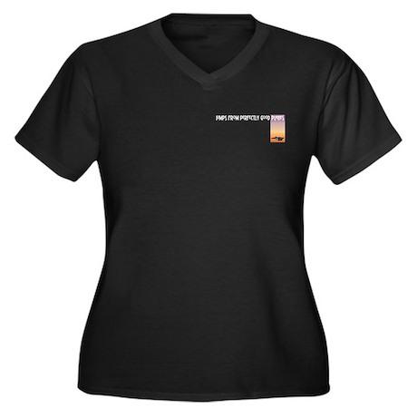Jumps Women's Plus Size V-Neck Dark T-Shirt