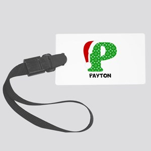 Christmas Letter P Monogram Large Luggage Tag