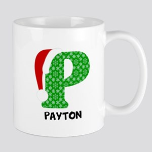 Christmas Letter P Monogram 11 oz Ceramic Mug