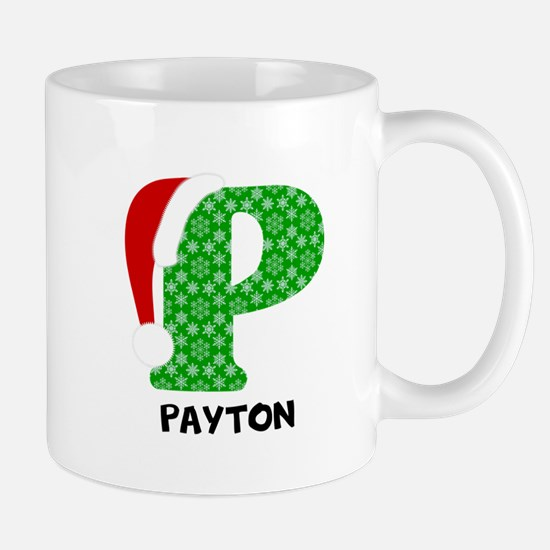 Christmas Letter P Monogram Mug