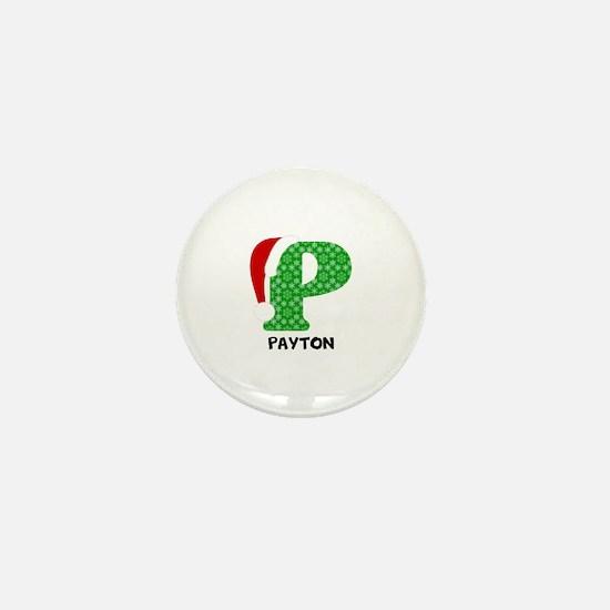 Christmas Letter P Monogram Mini Button (100 pack)