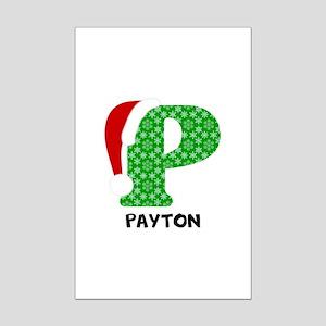 Christmas Letter P Monogram Mini Poster Print