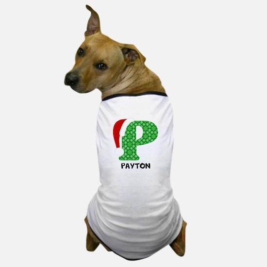 Christmas Letter P Monogram Dog T-Shirt