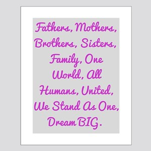 One World, All Humans Posters