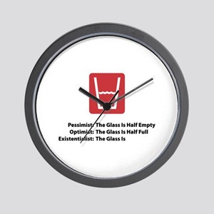 Existentialist Glass Wall Clock