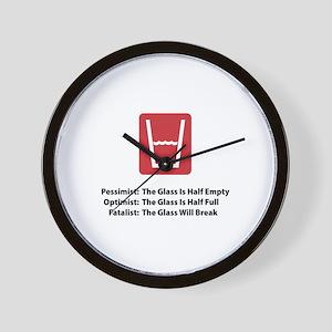 Fatalist Glass Wall Clock