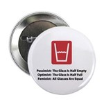 "Feminist Glass 2.25"" Button (100 pack)"