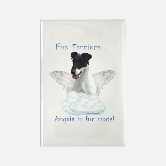 Fox Terrier Angel Rectangle Magnet