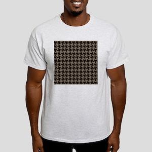Brown Tones Houndstooth Pattern Light T-Shirt