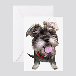 Mini Schnauzer002 Greeting Card