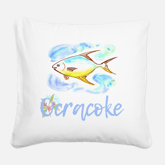 Cute Ocracoke island obx Square Canvas Pillow