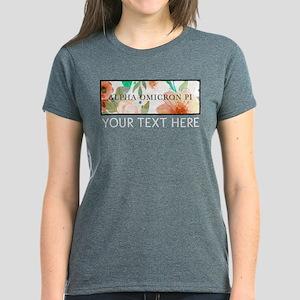 Alpha Omicron Pi Floral Perso Women's Dark T-Shirt