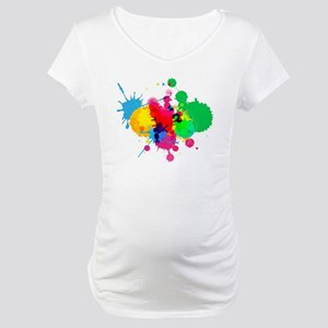 Paint Fight Maternity T-Shirt