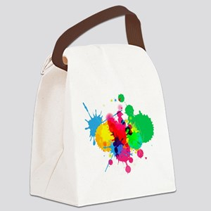 Paint Fight Canvas Lunch Bag