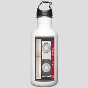 Old Style Cassette Tap Stainless Water Bottle 1.0L
