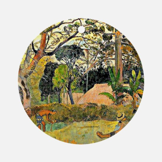 Paul Gauguin painting, A Big Tree Round Ornament