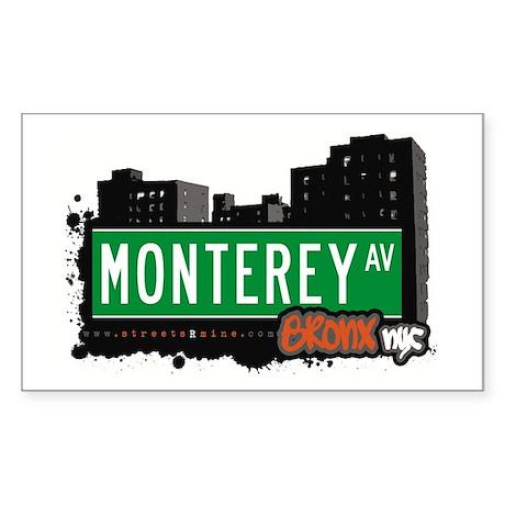 Monterey Av, Bronx, NYC Rectangle Sticker