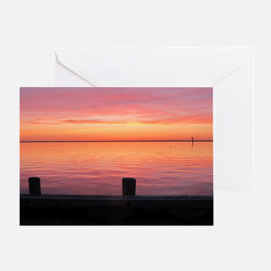 Serenity Sunset over LBI Greeting Card