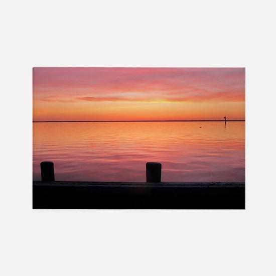 Serenity Sunset over LBI Rectangle Magnet