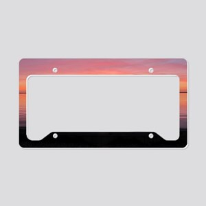 Serenity Sunset over LBI License Plate Holder
