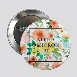"Alpha Omicron Pi Floral 2.25"" Button (10 pack)"