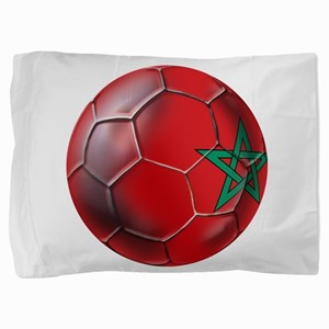 Moroccan Soccer Ball Pillow Sham