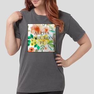 Alpha Omicron Pi Flora Womens Comfort Colors Shirt
