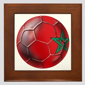 Moroccan Soccer Ball Framed Tile