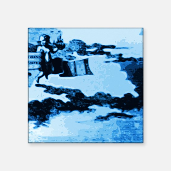 "Vintage Amsterdam Tile Mura Square Sticker 3"" x 3"""