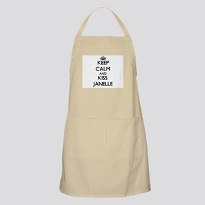 Keep Calm and kiss Janelle Apron