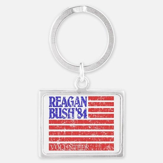 Reagan 84 Volunteer Landscape Keychain