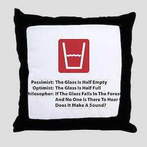 Philosopher Glass Throw Pillow