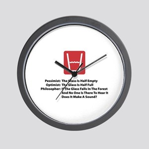 Philosopher Glass Wall Clock