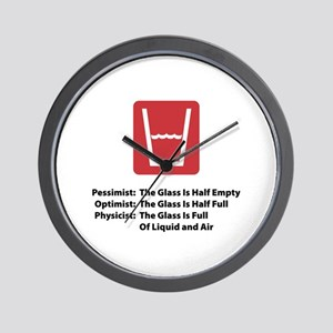 Physicist Glass Wall Clock