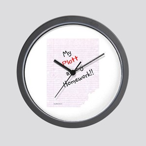 Plott Homework Wall Clock